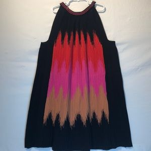 Missoni Multicolor Plisse Knit Dress